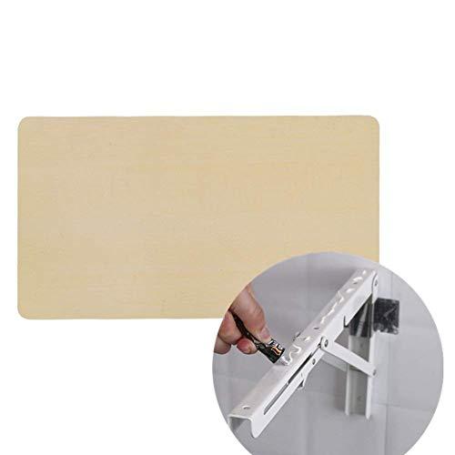 DXXDDNZ Hout Home Office Bureau Wandmontage Druppelblad klaptafel, metalen beugels, zeer stevig) Duurzaam / 70×38cm (27.5
