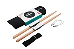 PLAY THE DRUMS like never before: Senstoke's Bluetooth drum sensor technology turns your environment into your own personal drum kit. Use couch cushions as your snare, textbooks as your tom and anything else you can find as your crash cymbal! Senstro...