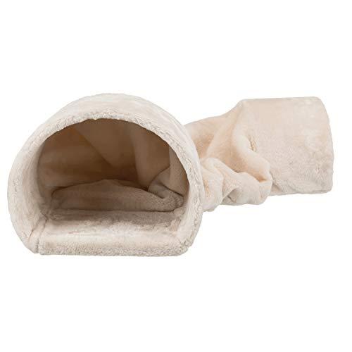 TRIXIE 63102 Kuscheltunnel für Kaninchen/Meerschweinchen, Plüsch