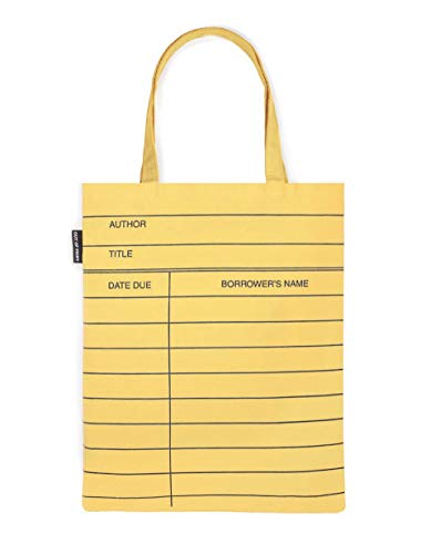 Out of Print Yellow Library Card Tote Bag