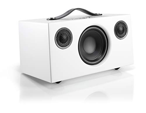 Audio Pro Addon C5 Compact High Fidelity WiFi Bluetooth Wireless Multi-Room Speakers Compatible with Alexa, Computers, Laptop, Desktop, Cellphone & Tablet - White