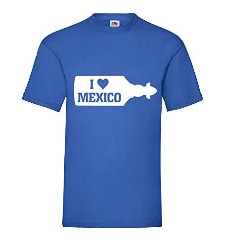 I Love Mexico Sierra Tequila Flasche Männer T-Shirt Royal Blau 3XL - shirt84.de