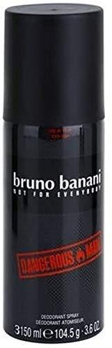Bruno Banani Dangerous Man Deodorant für Herren, Zerstäuber, 150ml