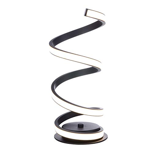 Tafellamp, tafellamp, LED-lamp, spiraal, dimbaar, gebogen LED-bureaulamp, modern, minimalistisch creatief design, acryl, LED-modelleerkamer, perfect voor slapen