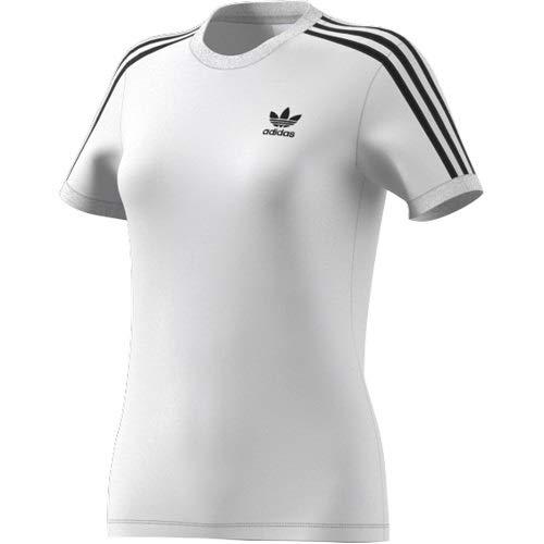adidas 3 Stripes tee Camiseta, Blanco, 38 para Mujer