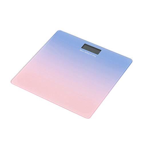 FBGood Waage, für Badezimmer, Körpergewicht, digital, Personenwaage, digital, mit Gewicht und Hintergrundbeleuchtungstechnologie violett