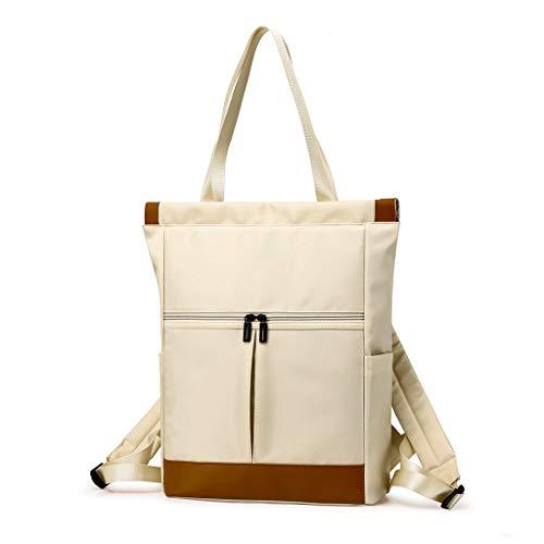 PINGDI Mochila de nailon para portátil de gran capacidad, para mujer, doble hombro, bolsa de viaje
