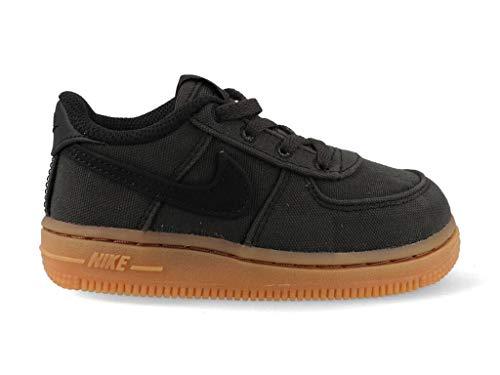 Nike Force 1 LV8 Style (TD), Scarpe da Fitness Unisex-Bambini, Multicolore Nero/Marrone (Black Gum Med Brown 001), 25 EU