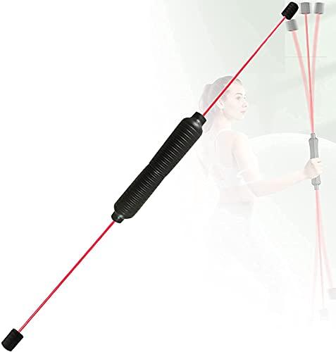 ZHEYANG Barra de fitness multifuncional, barra de tormentos, extraíble, muy elástica, fibra de vidrio para reducir peso, quemar grasa, color negro, modelo G0820 (color: rojo)