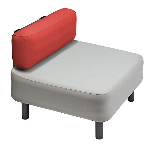 One Bar Element 2 Sessel Aufblasmöbel, Just add air, Mobile Lounge, Luft, Sofa, Couch, Sessel, Outdoor, Garten, Luftpolster, Onebar Farbe:Light Grey/Bright red