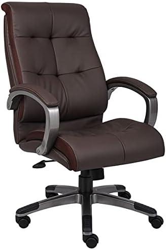 Brown Double Plush High Back Chair. Task Executive Financial sales sale Cha Tulsa Mall