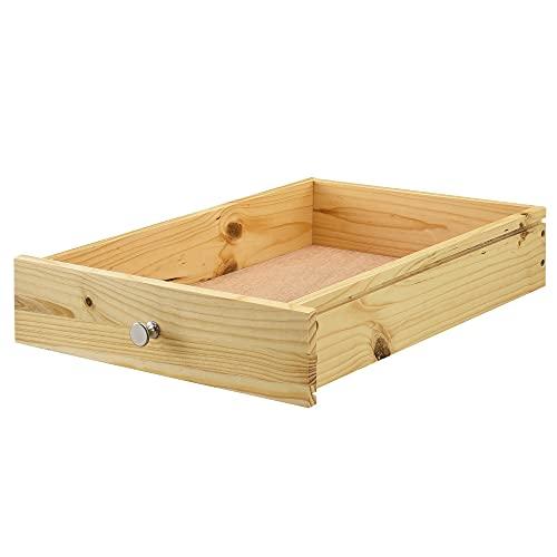 [en.casa] Schublade für Europaletten in Holzfarben Perfekt Integrierbar mit Führungsschienen und Befestigung Palettenmöbel