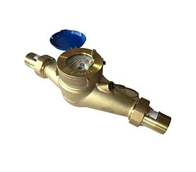 "DAE MJ-150 1.5"" NSF61 Lead Free Potable Water Meter, Pulse Output + Couplings"