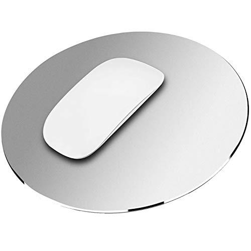 Alfombrilla de Ratón Gaming de Doble Caras de Aluminio y PU Impermeable para Ordenador Escritorio PC Plata