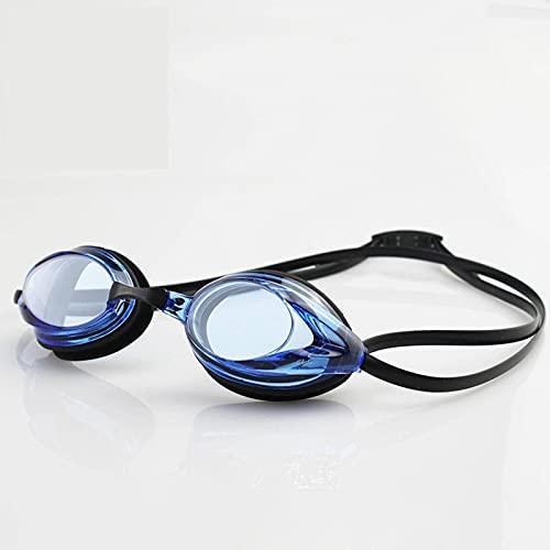 N\C Gafas de natación antivaho profesionales HD para adultos silicona reemplazable puente de la nariz gafas de natación con gafas caso
