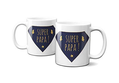 THEcoque MUG Tasse en ceramique Cafe - Made in France - Livraison Express Super Papa