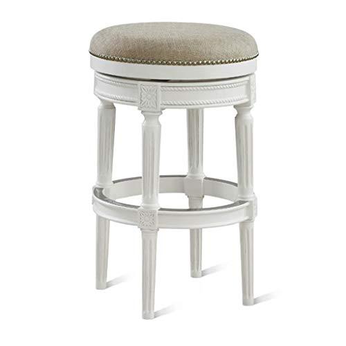 XQAQX barkruk, rond, vintage, massief hout, zitting, met grootte, café, bar, vrije tijd, ontbijt, creatieve eettafel, kruk, hoge stool