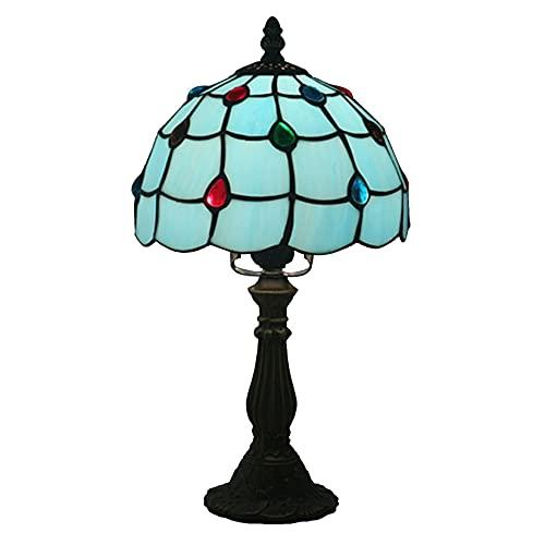 AWCVB Lámpara De Mesa De Estilo Tiffany, Vitrales De 8 Pulgadas