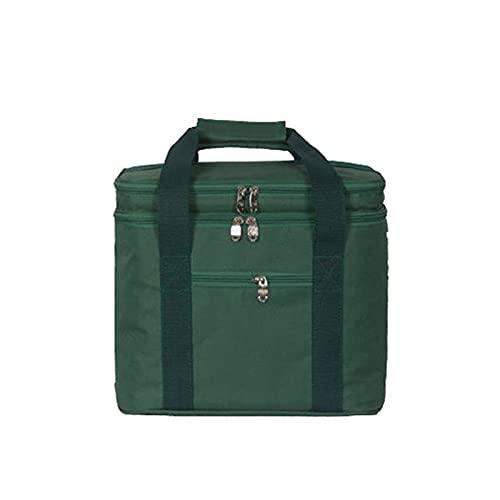 18L Gran Paquete de Aislamiento térmico Paquete Picnic Portátil Bolsas de contenedor Paquete Planta Paquete Alimento Bolso Aislado Bolso Cooler (Color : Green)