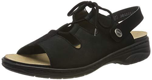 Rieker Damen 64570-00 Geschlossene Sandalen, Schwarz (Schwarz/Schwarz 00), 38 EU