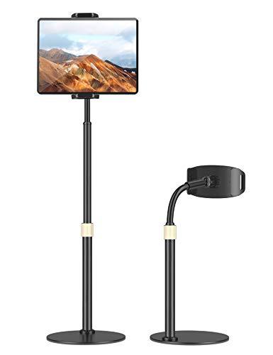 TRYONE Supporto Cellulare e Tablet, Regolabile in Altezza, Porta Cellulare a Tavolo 360 Gradi di Rotazione per iPad, iPhone,Samsung Tab, Huawei Mediapad, ECC (Supporto 4  -11  )