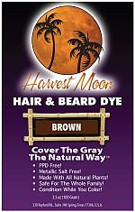 Click the image to see the price of Harvest Moon henna beard dye on Amazon.