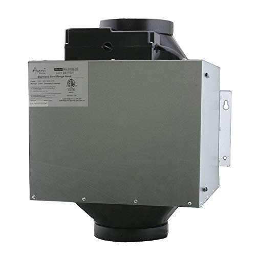 "Awoco Super Quiet Range Hood Inline Blower Unit Only, 4 Speeds 800CFM, 6"" Round Vent In and Out (6"" Blower Unit)"