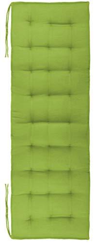 Brandsseller Bankauflage Bankkissen Outdoor/Indoor 27er Steppung ca.120x40x4 cm (Hellgrün)