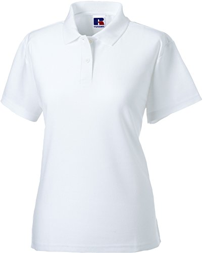 Russell Europe: Ladies` Polo Mischgewebe R-539F-0, Größe:L;Farbe:White