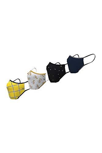 Allen Solly Women's cotton Face Mask (Pack of 4) (AHMSCRGPE80635_ Multicolor_ Free...