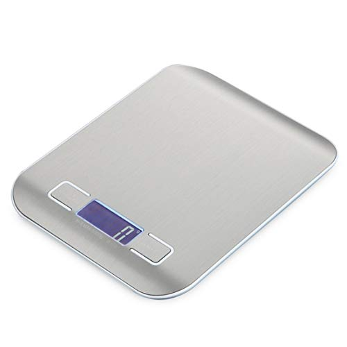 Justdodo5IT Scale Portable Kitchen Digital Scale Stainless Steel Electronic LCD display Food Scales Jewelry Scale 5000g/1g