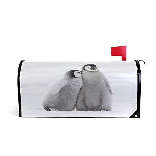 ZZKKO Mooie Pinguïn Magnetische Postbus Cover Wikkel Post Brievenbus Cover voor Buiten Tuin Home Decor Grote Grootte 25,5 x 20,8 Inch 25.5