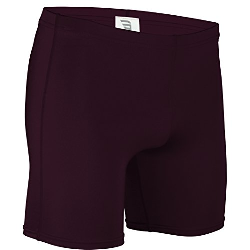 NL-111-CB Men's and Women's Tight Fit, Dry Fitness Compression Short-Basketball, Aerobics, Football-Made with Moisture Wicking Odor Protection Fabric (Medium, Maroon)