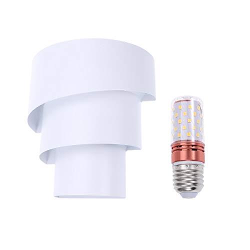 OSALADI Material de ferro Lâmpada de cabeceira montada na parede LED Lâmpada de parede decorativa de fundo com lâmpada de 5W (branca)