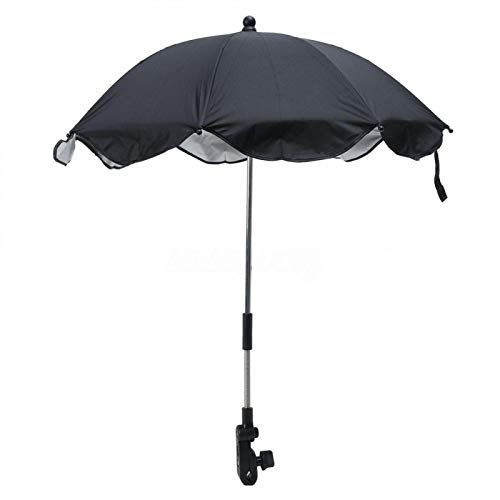 Sombrilla parasol para cochecito, protección UV, cochecito desmontable, paraguas para cochecito, parasol...