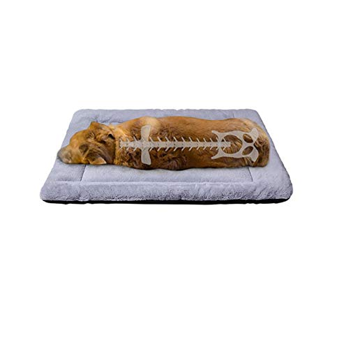 PETCIOSO Super Soft Dog Cat Crate Bed Blanket-Fluffy Pet Bed All Season-Machine Wash & Dryer Friendly-Anti-Slip Pet Beds(NOT for Chewer)(36in,Grey)