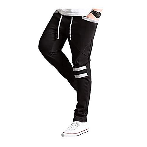 FIAN Pants Entubado Slim Tela Elastica Hombre Envio Gratis 2013 (Negro, M)