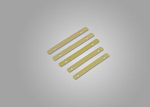 Deckleisten aus Metall, messingfarbig, 120 mm lang, Lochung 80mm, 250 Stück