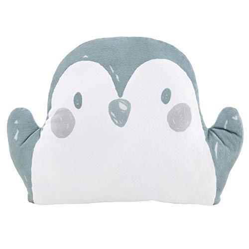 s.Oliver Kuschelkissen Pinguin- Kuscheltier blau Dekokissen Kinderzimmer Schmusekissen Junge Mädchen 23x30 mit Füllung
