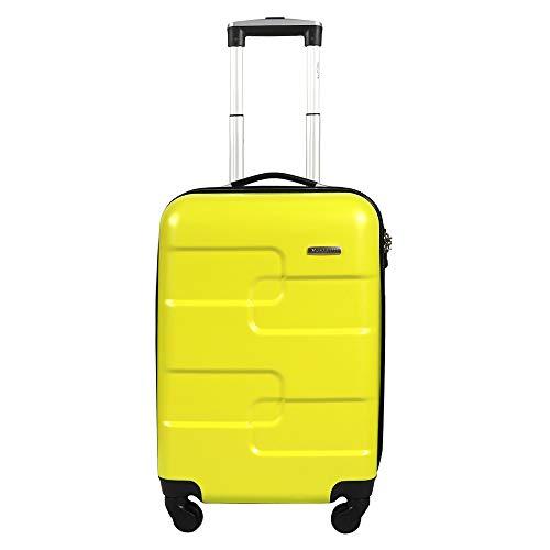 Vesgantti Large Suitcase with TSA Lock - Lightweight Anti-Scratch 4 Wheel Hand Luggage - Hard Shell Travel Tripp Spinner Case (Yellow Green, 20 inch)
