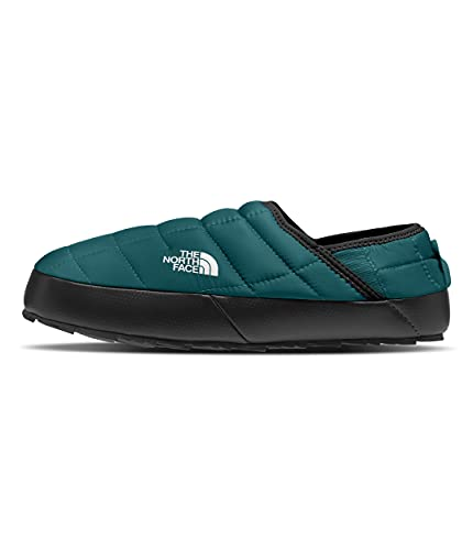 The North Face Women's ThermoBall Traction Mule V, Shaded Spruce/TNF Black, 6