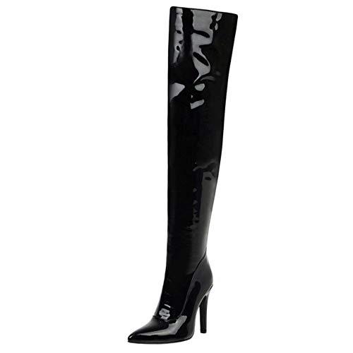 Lydee Femmes Mode bottes hautes Fermeture éclair Dress...