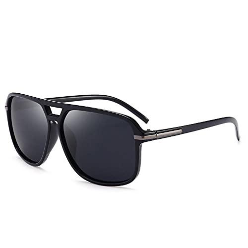 Gosunfly Espejo polarizador gafas gafas de sol de los hombres antiguos gafas de sol de moda-arena caja negra negro gris