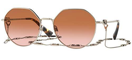 Valentino Gafas de Sol V LOGO VA 2043 Pale Gold/Brown Shaded 57/19/140 mujer