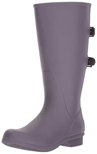Chooka Women's Wide Calf Memory Foam Rain Boot, Mulberry, 6