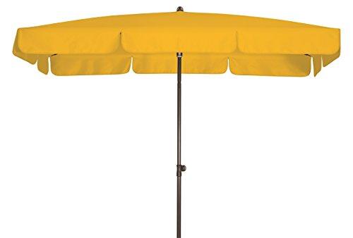 Doppler Absolut wasserdichter Gartenschirm Waterproof 185x120 UV-Schutz 80, Farbe gelb