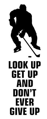 spb87 Kijk omhoog opstaan en geef nooit op - Ice Rink Sport Hobby match Spelen Hockey muur motivatie decal muur Citaat stickers muur kunst Game Sport Family Fun Hobby Quote Liefde Thuis
