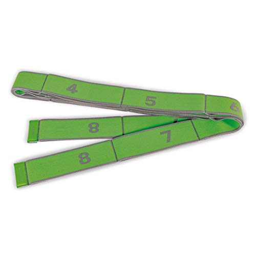 PINOFIT Stretch Band XL - Extralanges Gymnastikband mit Schlaufen - Widerstandsband - Fitnessband - Therapieband - Stretch Loop (Lime - stark)