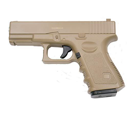 Galaxy Pistola G15D Tipo Glock 19 - Desert - Pistola Muelle Calibre 6 mm Aleación de Metal y Zinc - Energía 0.33 Julios - Velocidad de Disparo 82m/s - 268 FPS. Ref:G15D