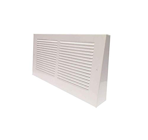 Imperial RG0314 14 x 8 2-Inch Projection Baseboard Return Grill, White